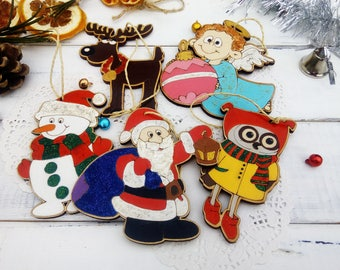 Black friday Wooden Christmas ornament wooden Christmas gift for kids Christmas decoration Winter tree ornament Christmas favors