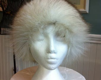 Vintage Fur Hat - Silver Fox Fur - Winter Hat - Coat Accessory - Gift for Her