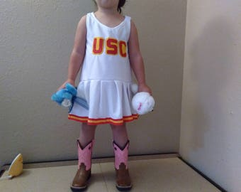 USC Kids Child Dressy Jumper Cheerleader Uniform Football Game Halloween Christmas Costume