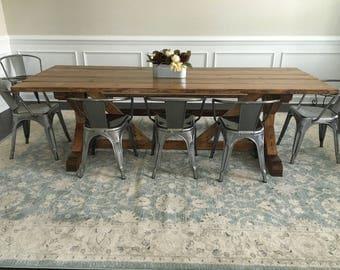 Custom Trellis Farmhouse Table - Karen