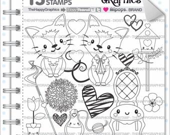 80%OFF - Cat Stamp, Commercial Use, Digi Stamp, Digital Image, Cat Digistamp, Animal Stamp, Cat Clipart, Cute Ctas, Cat Clip Art, Fancy