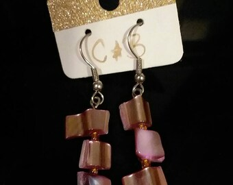 Shell pieces earrings