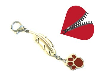 RedPaw Zipper Pull, Versatile Handbag Charm, Key Ring, Bag Dangle, Anytime Gift, Zipper Charm, Jacket Decor, Zip Decor,Free Local Shipping