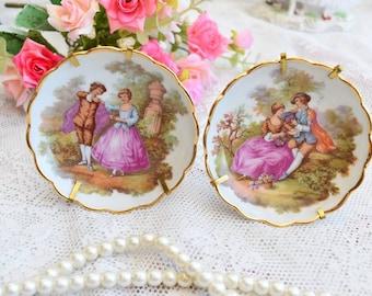 Vintage porcelain dish set porcelain dish plate Limoges floral porcelain dish