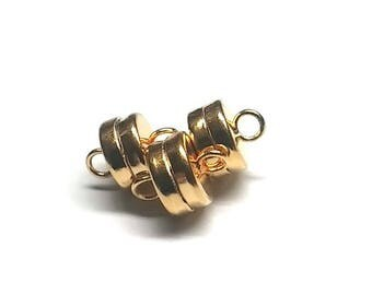 Gold Plated Magnetic Clasp  7MM MGN13GP Qty 3