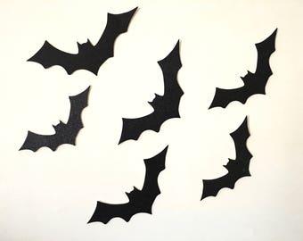 Halloween Wall Bats - Halloween Bats Wall Decor - Glitter Bats - Halloween Decor - Halloween Wall Decor