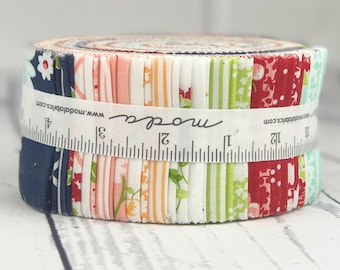 The Good Life Jelly Roll - Moda Quilt Fabric - Bonnie & Camille - 40 pieces