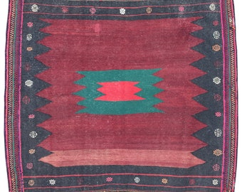 Antique Soffreh Kilim 1.32m x 1.28m