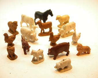 Vintage Group of  16 Farm Animals