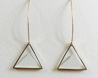 Triangular earrings  / Geometric earrings