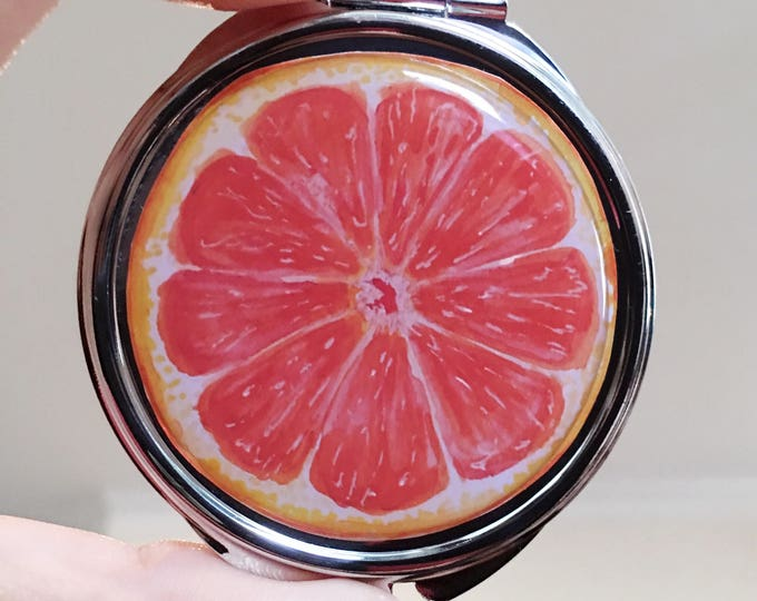 Featured listing image: Grapefruit, Compact Mirror