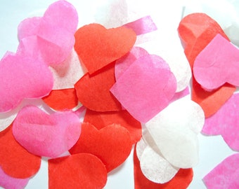 Confetti pink Red ivory heart - task not - 25 handles (handmade)