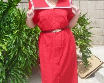 Vintage Sailor Dress