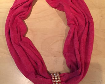 Red Pillowcase Cowl Scarf