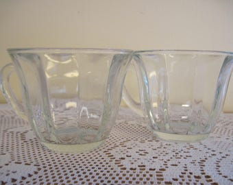 Pair of Optic Glass Tea Cups - Item #1610