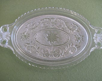 Duncan and Miller Sandwich Glass Sugar Creamer Tray - Item #1477