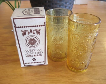 Three American Concord Juice Glasses - #1636