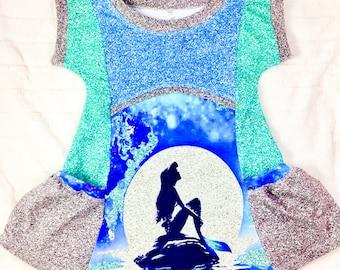 Little Mermaid pocket panel dress
