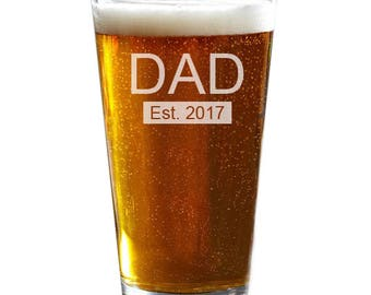 Dad Beer Glass, Father's Day Gift, Christmas Gift, Engraved Pint Glass, Husband Gift, Dad Gift