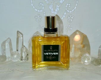 Guerlain, Vetiver, 100 ml. or 3.38 oz. Flacon, Eau de Toilette, 1980's, Paris, France ..