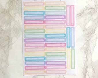 38 Skinny Pastel Label Stickers, Planner Stickers, Perfect for use with ERIN CONDREN LIFEPLANNER™, Kikki K, Filofaxes, Plum Paper, Journals