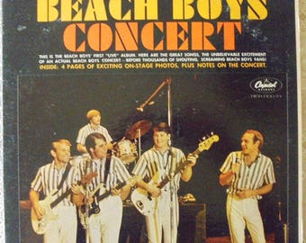 "Beach Boys ""CONCERT"" vintage gatefold 1964 mono lp record with rare insert"