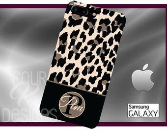 LEOPARD Monogram Cell Phone Case, iPhone 6 case, leopard phone case,iPhone 6 plus cell phone case, iPhone 7 plus case, animal print, leopard