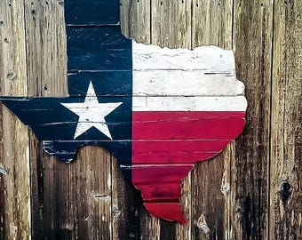 ON SALE Texas Flag Wall Art - Reclaimed Wood Texas - Wooden Texas Flag - Rustic Wooden Signs - Texas Home Decor - Wood Texas Flag - Reclaime