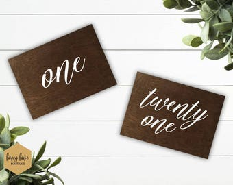 wood table numbers, wood signs, wedding decor, weddings and events, wooden wedding number, wedding table decor, reception decorations