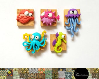 Sea Creatures Fridge Magnet Set