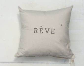Reve (dream) Canvas pillow cover