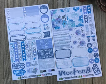 "Small Weekly Planner Sticker Kit ""Lavendar"""
