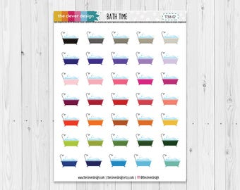 Bath Time Planner Stickers | Bath Stickers | Planner Stickers | 17356-02