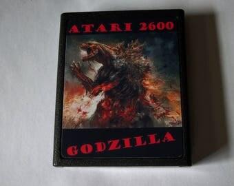 Atari 2600 GODZILLA Video Game Cartridge Homebrew < Free Shipping >