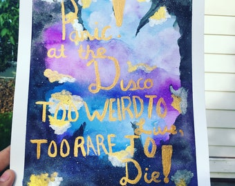 Panic! At the disco painting