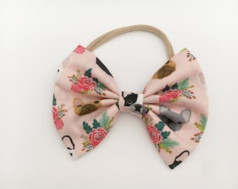 Baby girl bows ,floral bow,dog bow