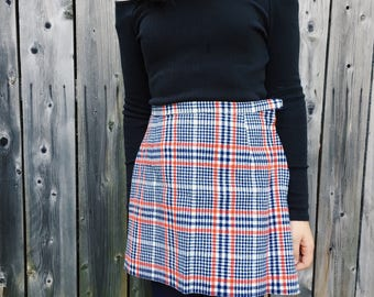 Vintage wool girls' skirt