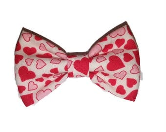 Dog Bow Tie - Hearts Bow Tie - Bow Tie For Dog - Bow Tie -  Handmade Dog Bow Tie