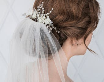 FLORAL PRINCESS | Floral bridal hair comb wedding headpiece decorative comb