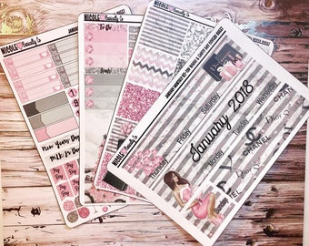 January 2018 Monthly Overview 4 Page Kit