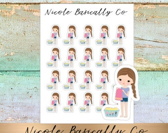 Jade Dolls- Laundry- Character Planner Stickers