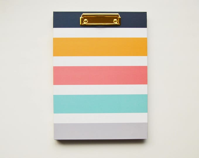 SALE with Minor Imperfections - BERTEAU Stripe Clipfolio
