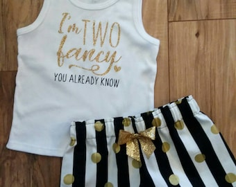 I'm TWO fancy, you already know. 2nd birthday outfit.