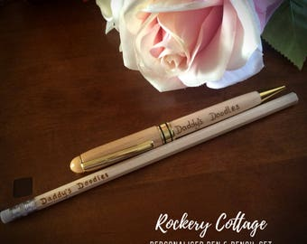 Pen and pencil set, student writing set, teacher appreciation gift, university gift, study gift, pen set, pen gift set, writing pen, HB