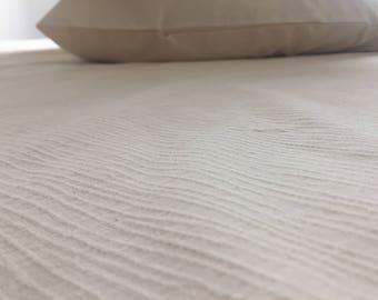 Cream 100% Cotton Bedding  Duvet Cover Pillow Case