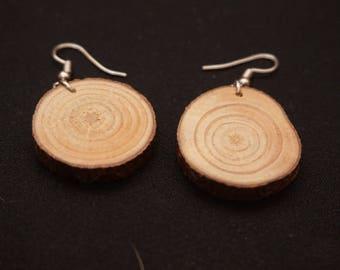 Wood Slice Earrings