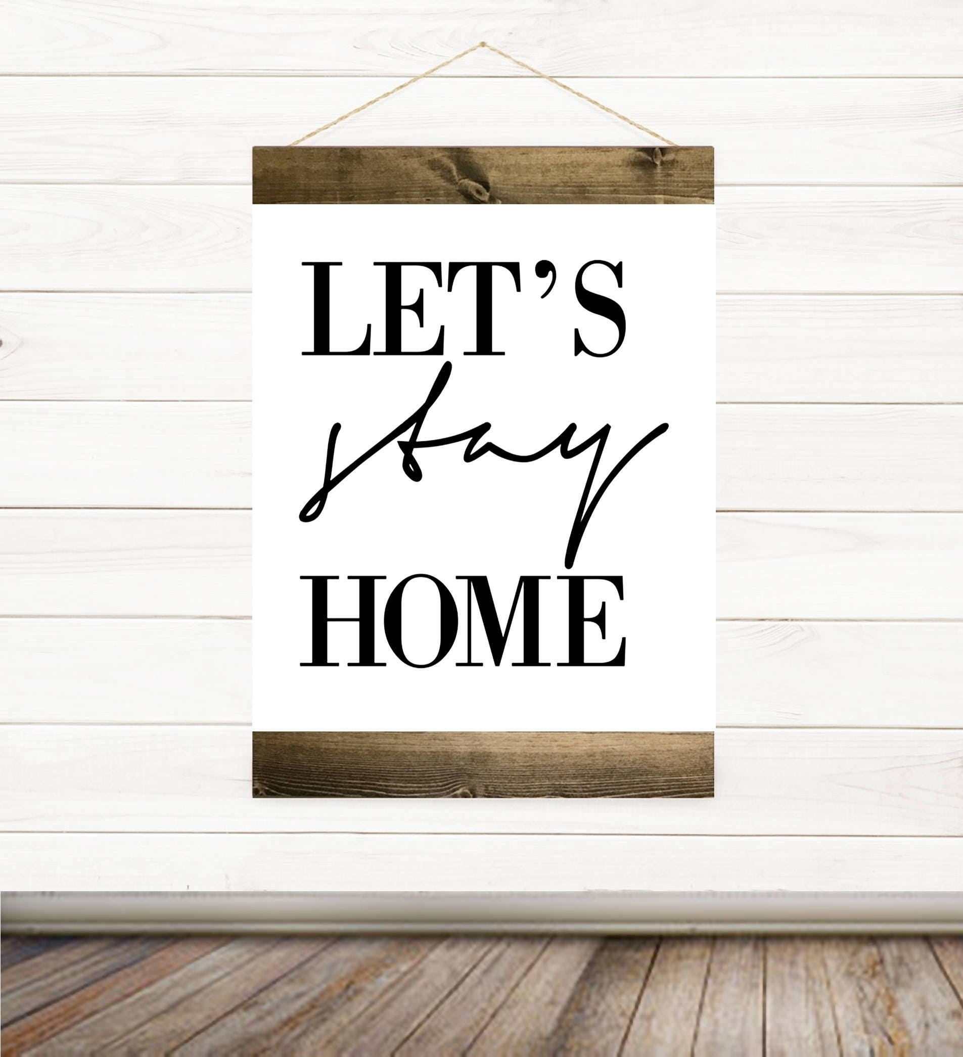 Black Friday Sale Let 39 S Stay Home Canvas Banner Canvas Art Canvas Print Wall Decor