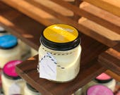Malibu || Scented Soy Candle || California || Tangerine || Berries || Peaches || Jasmine || Handmade || Handpoured || Mason Jar Candle