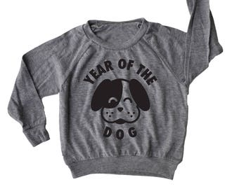 Year of the Dog Baby and Kids Pullover, Chinese New Year shirt,  Lunar New Year shirt, Chinese Asian Baby Gift, Unique Baby gift