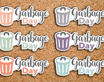 28 Garbage Day, Recycling Day, Trash Icon, Garbage Can, Trash Day, Daily Chore Icon Stickers for 2017 inkWELL Press Planners IWP-DC119